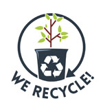 Phocathumbnail Agricultural Plastics Recycling Icon with WE RECYCLE